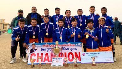 Photo of मुख्यमन्त्री कप फुटबल प्रतियोगिताको प्रदेश सरकारले एन्फालाई दियो १८ लाख