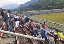 Photo of गोष्तेघाट फुटबल मैदानको प्यारापिट ढलान सम्पन्न