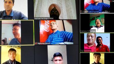 Photo of ह्याण्डबलको भर्चुअल प्रशिक्षण सम्पन्न