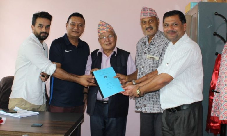 Draft committee handed over the curriculum to the Chancellor Prof. Dr. Gurung