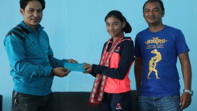 Photo of विश्व च्याम्पियन मुवाँथाई खेलाडी पलिस्था सम्मानित