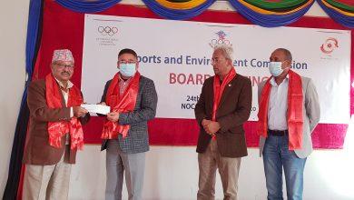 Photo of एनओसी अध्यक्ष श्रेष्ठद्वारा 'स्पोर्टस एण्ड इनभाइरोनमेन्ट' सदस्यहरुको स्वागत