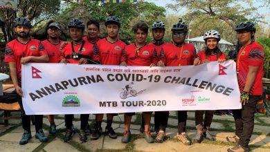 Photo of पोखराको साइकल टोली मनाङको तिलिचोतर्फ