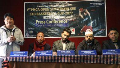 Photo of पीएचसीए खुला सूर्योदय बास्केटबल भोलिदेखि