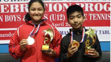 Photo of राष्ट्रिय यू १२ टेबुल टेनिस : उज्ज्वल र शुभश्री पहिलो