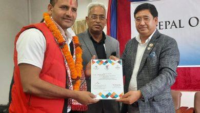 Photo of नेपाल ओलम्पियन एशोसियसनको अध्यक्षमा विष्ट निर्वाचत